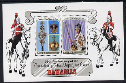 Bahamas 1978 Coronation 25th Anniversary m/sheet unmounted mint SG MS 517