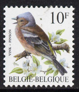 Belgium 1985-90 Birds #1 Chaffinch 10f unmounted mint, SG 2854