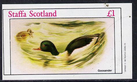 Staffa 1982 Goosander imperf souvenir sheet (�1 value) unmounted mint