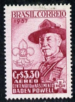 Brazil 1957  Birth Centenary of Lord Baden Powell, SG 961*