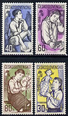 Czechoslovakia 1959 10th Anniversary of Young Pioneers Movement set of 4 unmounted mint, SG 1084-87*