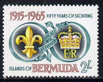 Bermuda 1965 50th Anniversary of Bermuda Scout Movement unmounted mint, SG 186