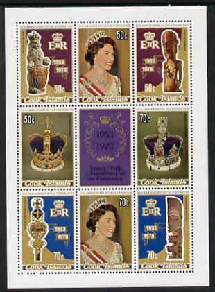 Cook Islands 1978 Coronation 25th Anniversary m/sheet (SG MS 601) unmounted mint