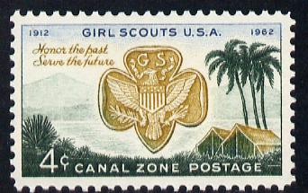 Canal Zone 1962 50th Anniversary of US Girl Scout Movement unmounted mint SG 222*