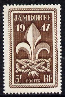 France 1947 Boy Scout Jamboree unmounted mint, SG 1017*