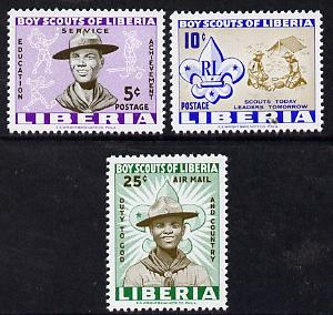 Liberia 1961 Liberian Scout Movement set of 3 unmounted mint, SG 852-54