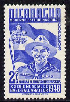 Nicaragua 1949 Scouts 2c blue from Baseball set, SG 1121 unmounted mint*