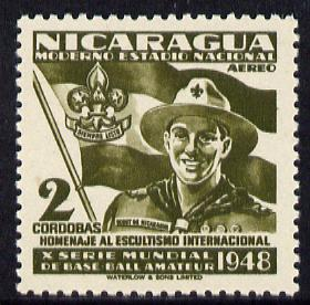 Nicaragua 1949 Scouts 2cor olive from Baseball set unmounted mint, SG 1144*
