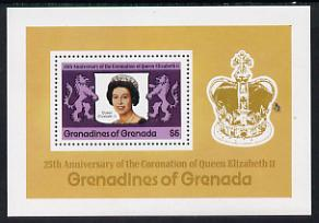 Grenada - Grenadines 1978 Coronation 25th Anniversary m/sheet (SG MS 275) unmounted mint