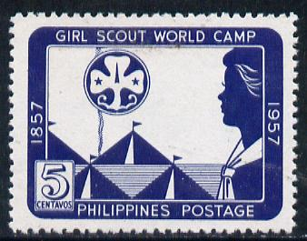 Philippines 1957 Girl Guides World Camp unmounted mint, perf SG 798A*