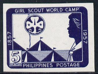 Philippines 1957 Girl Guides World Camp, unmounted mint imperf SG 798b*