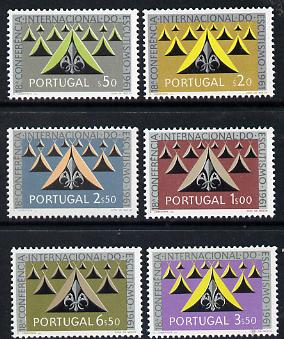 Portugal 1962 18th International Scout Conference set of 6 unmounted mint SG 1203-0