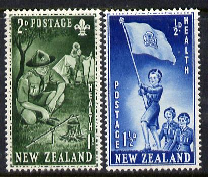 New Zealand 1953 Health - Guides & Scouts set of 2 unmounted mint, SG 719-20*