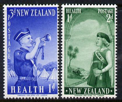 New Zealand 1958 Health - Girls' & Boys' Brigades set of 2 SG 764-65 unmounted mint*