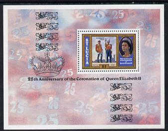 St Lucia 1978 Coronation 25th Anniversary m/sheet unmounted mint (SG MS 472)
