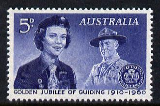 Australia 1960 Golden Jubilee of Girl Guide Movement unmounted mint, SG 334*