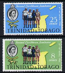 Trinidad & Tobago 1961 Second Caribbean Scout Jamboree set of 2, SG 298-99 unmounted mint*