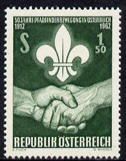 Austria 1962 50th Anniversary of Austrian Scout Movement unmounted mint, SG 1388