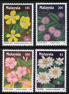Malaysia 1990 Wildflowers (first series) set of 4, SG 435-38*