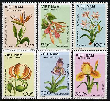 Vietnam 1989 Flowers set of 6, SG 1331-36