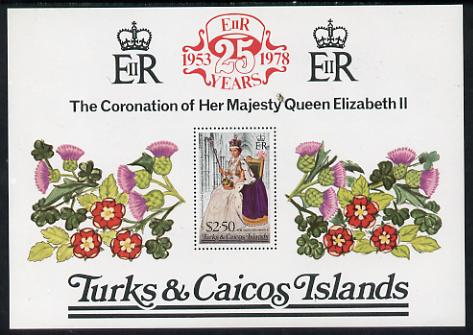 Turks & Caicos Islands 1978 QE2 Coronation 25th Anniversary m/sheet unmounted mint, SG MS 498