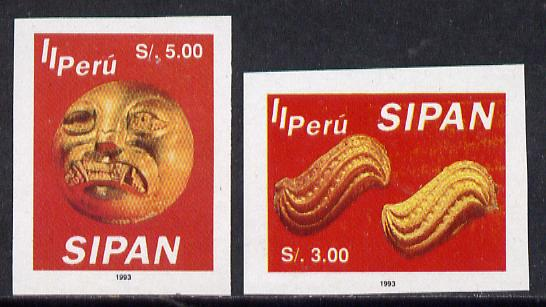 Peru 1994 Jewels from Sipan (2nd Series) imperf set of 2, SG 1830-31*