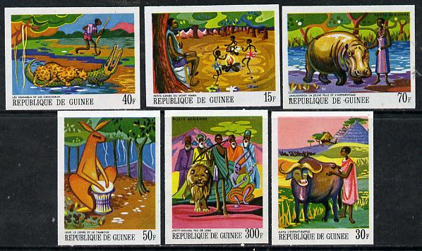 Guinea - Conakry 1968 Paintings of African Legends #2 imperf set of 6 from limited printing unmounted mint, as SG 651-6