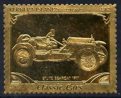 Bernera 1985 Classic Cars - 1911 Stutz Bearcat \A312 value perforated & embossed in 22 carat gold foil unmounted mint