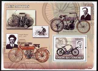 Comoro Islands 2008 Early Motorcycles perf s/sheet unmounted mint Michel BL435
