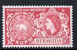 Bermuda 1953-62 Hog Coin 5s from def set unmounted mint, SG 148
