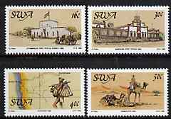 South West Africa 1988 Centenary of Postal Service set of 4 unmounted mint, SG 495-98