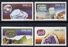 South West Africa 1979 Gemstones set of 4 unmounted mint, SG 334-37