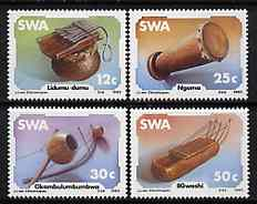 South West Africa 1985 Musical Instruments set of 4 unmounted mint, SG 451-54*