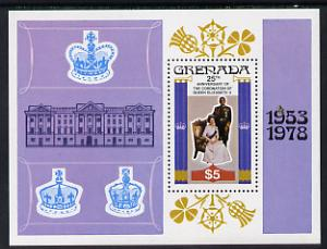 Grenada 1978 Coronation 25th Anniversary m/sheet unmounted mint, SG MS 949