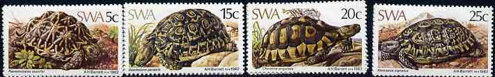 South West Africa 1982 Tortoises set of 4 unmounted mint, SG 390-93, stamps on animals, stamps on reptiles, stamps on tortoises