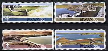 South West Africa 1980 Water Conservation Dams set of 4 unmounted mint, SG 369-72