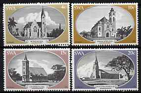 South West Africa 1978 Historic Churches set of 4 unmounted mint, SG 319-22