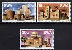 South West Africa 1976 Castles set of 3 unmounted mint, SG 287-89