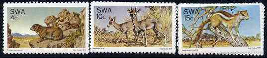 South West Africa 1976 Fauna Conservation set of 3 unmounted mint, SG 290-92