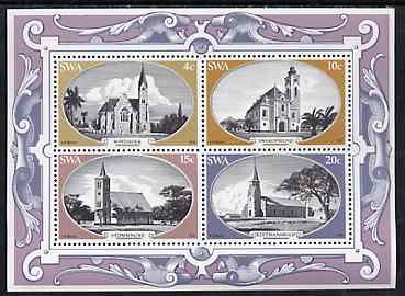 South West Africa 1978 Historic Churches m/sheet unmounted mint, SG MS 323