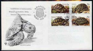 South West Africa 1982 Tortoises set of 4 on unaddressed illustrated cover with special first day cancel
