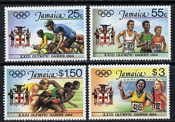 Jamaica 1984 Olympic Games set of 4 unmounted mint, SG 600-603