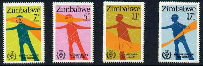 Zimbabwe 1981 International Year of the Disabled set of 4, SG 602-05 unmounted mint*
