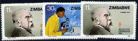 Zimbabwe 1982 Discovery of Tubercle Bacillus by Robert Koch set of 2 unmounted mint, SG 620-21*