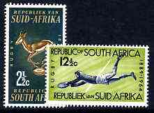 South Africa 1964 75th Anniversary of South African Rugby Board set of 2 unmounted mint, SG 252-53