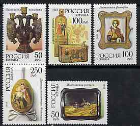 Russia 1993 Traditional Art set of 5 unmounted mint, SG6428-32, Mi 328-32*