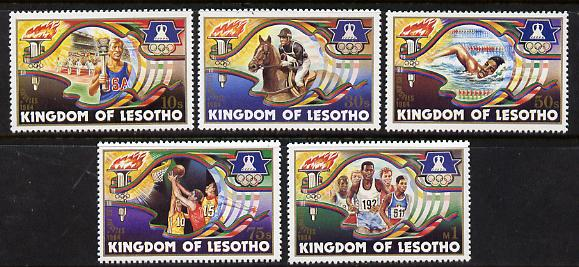 Lesotho 1984 Los Angeles Olympic Games set of 5 unmounted mint SG 590-94