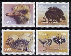 South West Africa 1985 Ostriches set of 4 unmounted mint, SG 439-42*