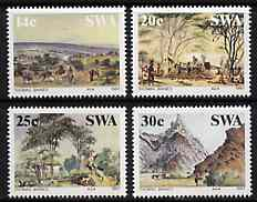 South West Africa 1987 Paintings by Thomas Baines set of 4 mounted mint, SG 471-74*, stamps on arts, stamps on tourism