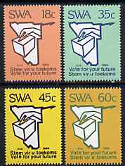 South West Africa 1989 Constitutional Elections set of 4 unmounted mint, SG 515-18